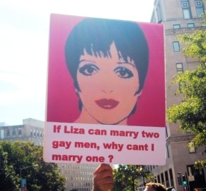Gay Pride Protest Sign