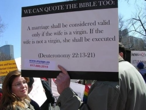 Gay Pride Protest Sign