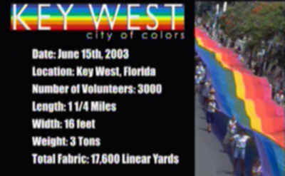 Key West Rainbow Flag Information