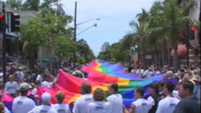 Key West Rainbow Flag