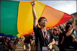 gay rights activists in taipei taiwan