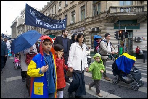 Family Values Rally in Romania