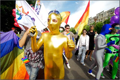 GayFest 2010 Participant in Bucharest Romania