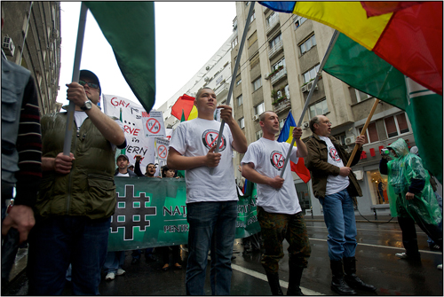 "GayFest protest by ""New Right"" in Romania"
