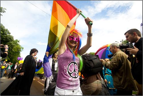 GayFest 2010 Participant in Bucharest, Romania