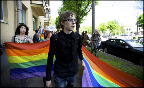 Sergey at Slavic Pride 2010