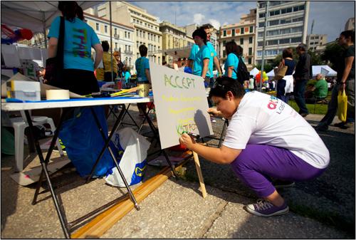 Athens Pride 2010 Setup