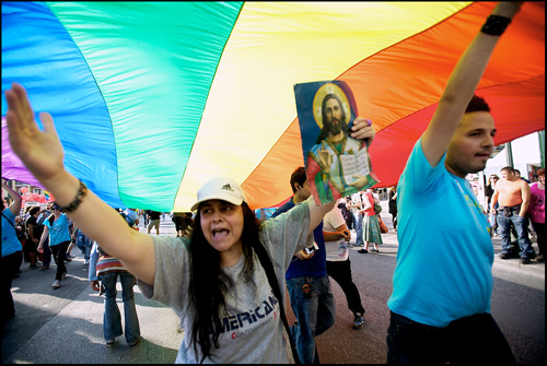 Athens Pride 2010 Protester