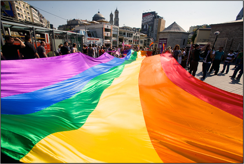 Rainbow Flat at Istanbul Turkey Trans Pride
